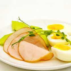 Ägg med melon och kalkon