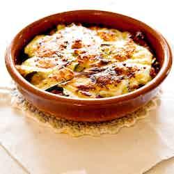 Moussaka på zucchini med feta