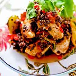 Kycklingchili med belugalinser