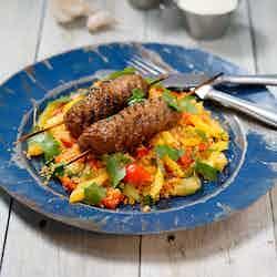 Lammkebab med couscous